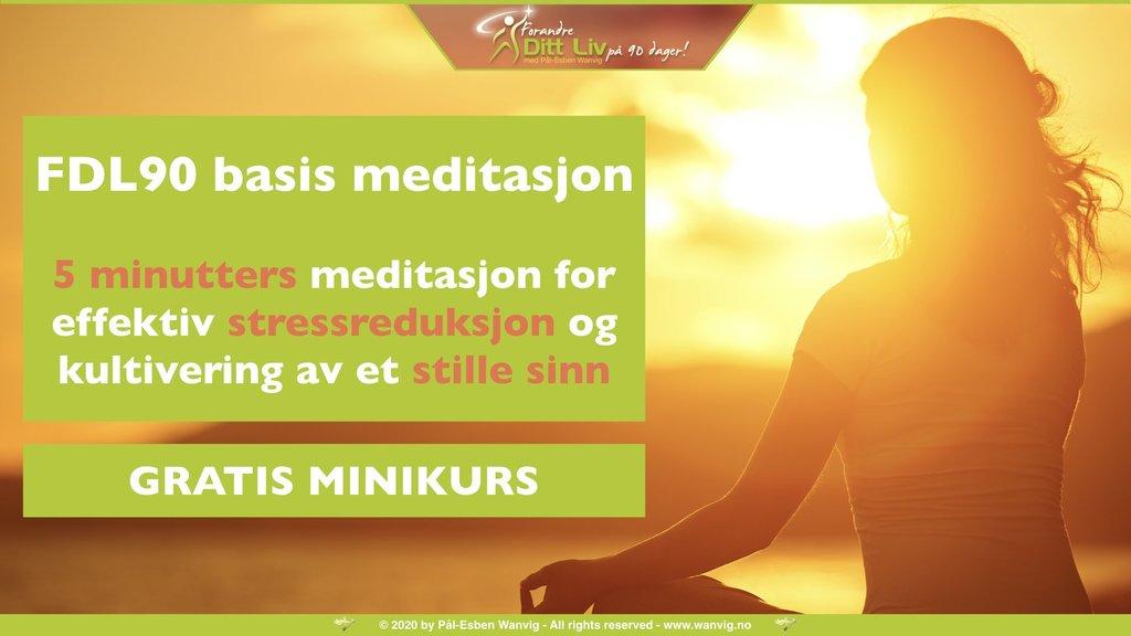 5 minutters meditasjon for effektiv stressreduksjon og kultivering av et stille sinn